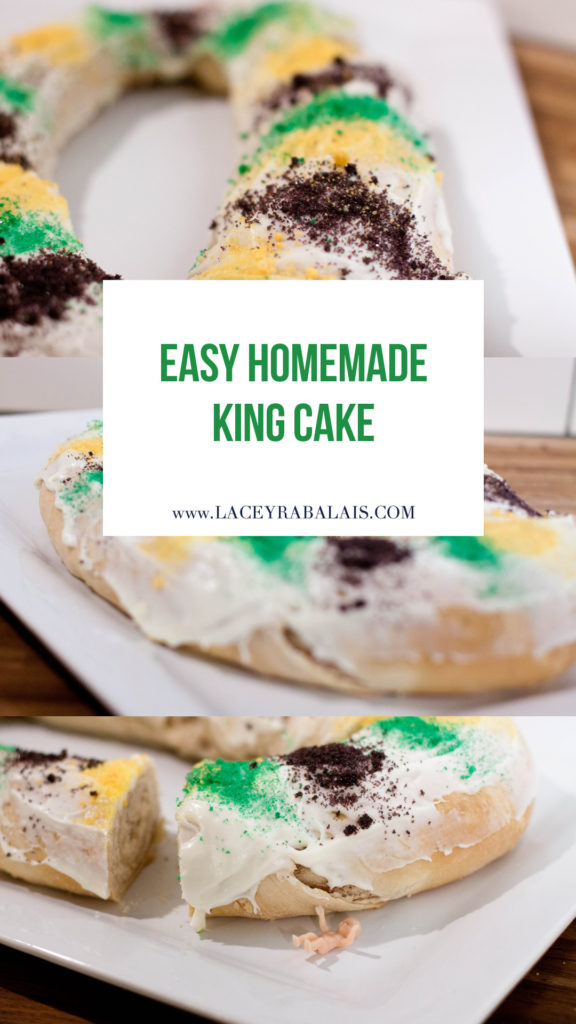 Homemade King Cake // Lacey Cooks // Pioneer Woman Cinnamon Rolls