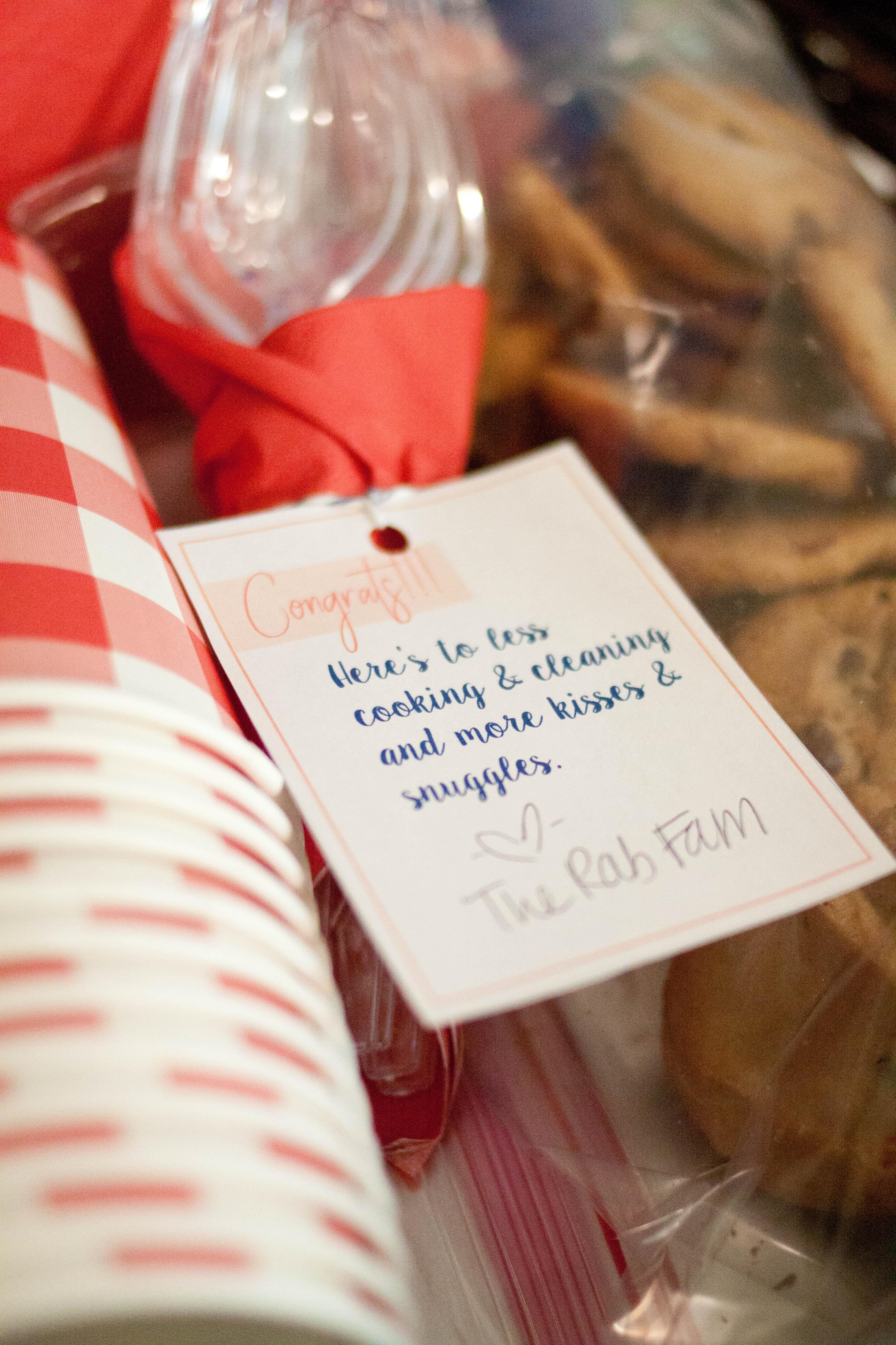 New Mama Gift Basket Printable Tag