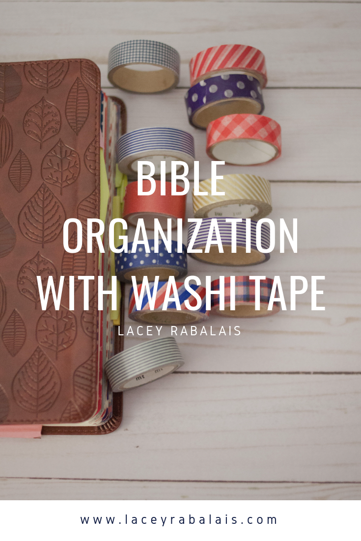 Bible Organization with Washi Tape