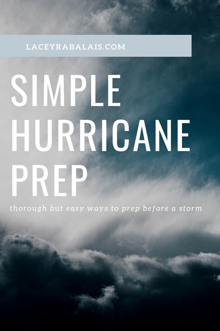 Simple Hurricane Prep